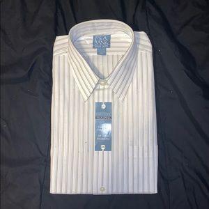 Jos. A. Banks Vertical Striped Dress Shirt